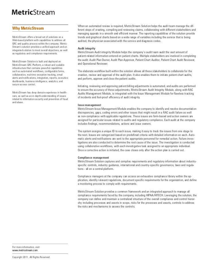 Healthcare Audit Compliance  Slide 3