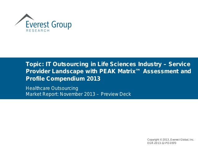 Topic: IT Outsourcing in Life Sciences Industry – Service Provider Landscape with PEAK Matrix™ Assessment and Profile Comp...