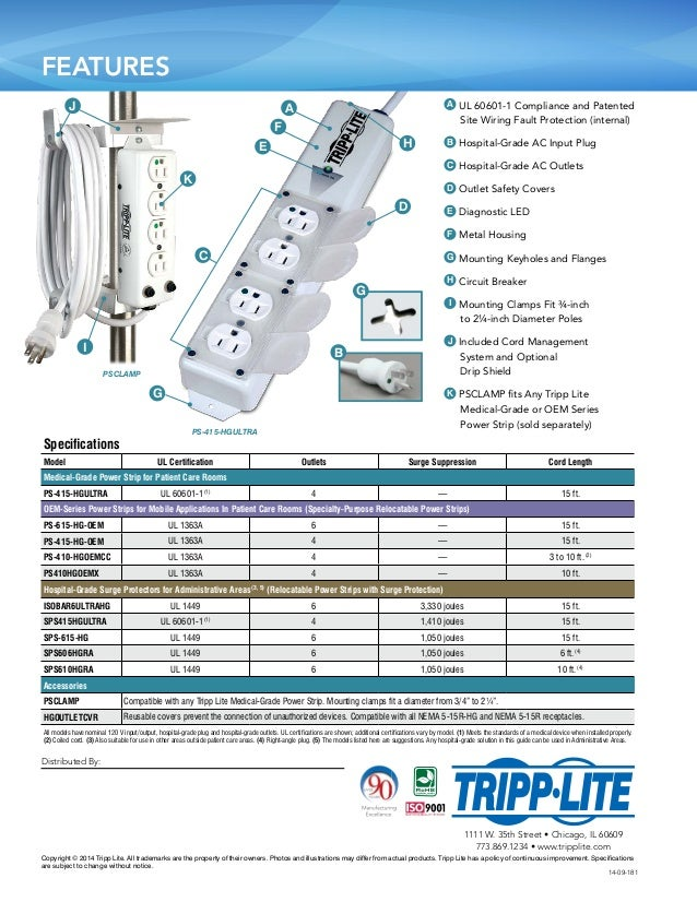 power strip surge protector guide in healthcare facilities tripp lite 4 638?cb=1427106890 power strip & surge protector guide in healthcare facilities tripp UL 1449 Symbol at n-0.co
