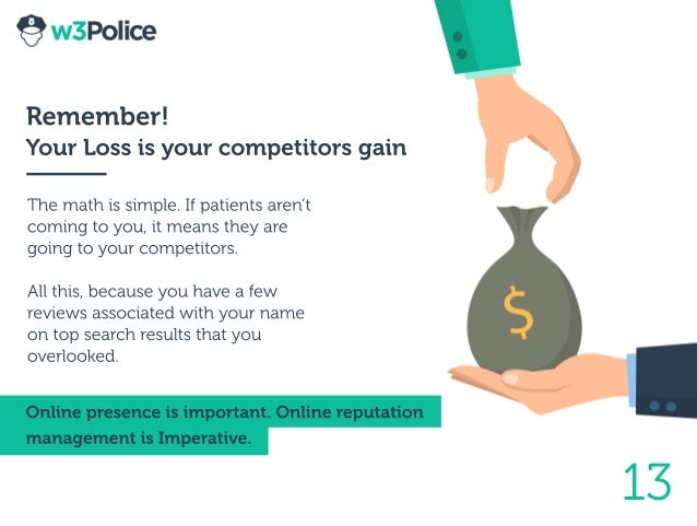 13 Remember! YourLossisyourcompetitorsgain Themathissimple.Ifpatientsaren't comingtoyou,itmeanstheyare goingtoyourcompetit...