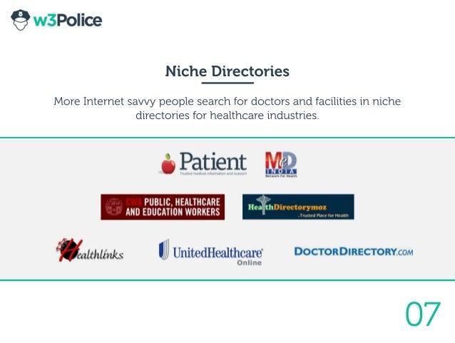 07 NicheDirectories MoreInternetsavvypeoplesearchfordoctorsandfacilitiesinniche directoriesforhealthcareindustries.