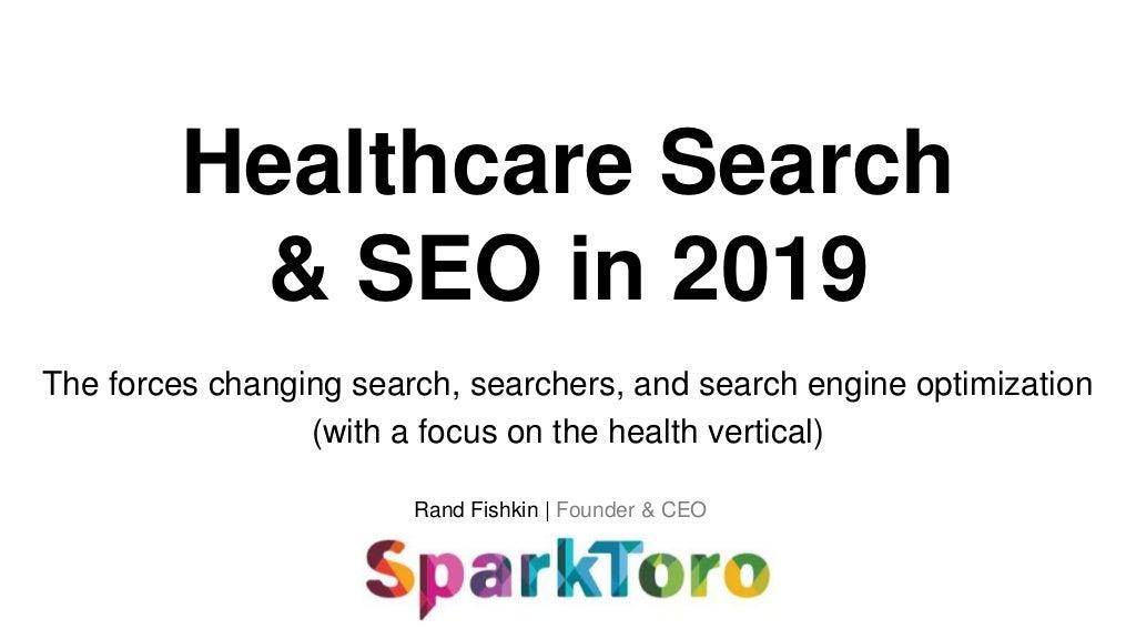 The Healthcare Search Landscape in 2019: SEO, Content Marketing, & More