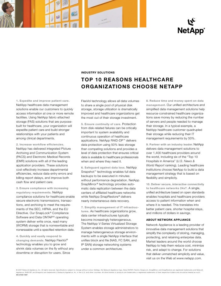 Industry solutIons                                                                                   toP 10 rEAsons HEAltH...