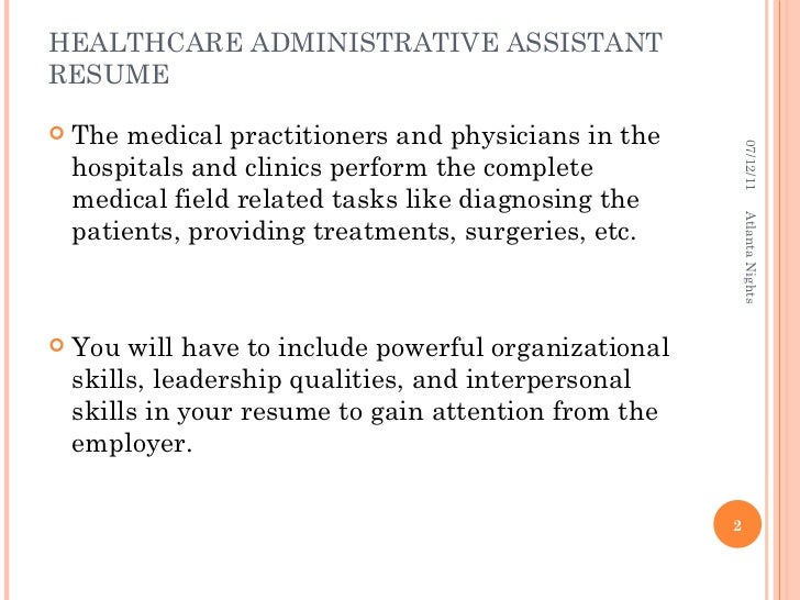 HEALTHCARE ADMINISTRATIVE ...