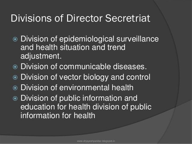 Divisions of Director Secretriat Division of mental health Division of diagnostic,therapeutic andrehabilitative technolo...