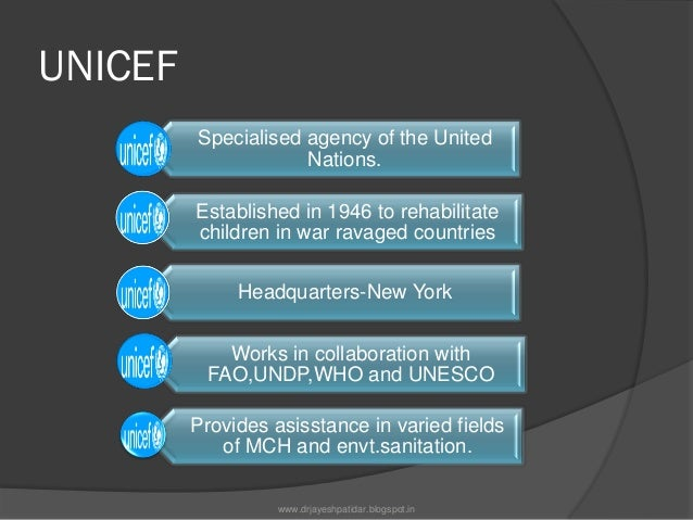 The Executive Board-UNICEF It is the Governing Body of the UNICEF Intergovernmental support Supervision activities of U...