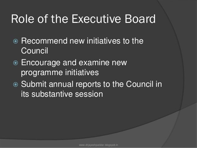 MEMBERSHIPThe Board has 36 members, elected for athree-year term with the followingregional allocation of seats: 8 Africa...