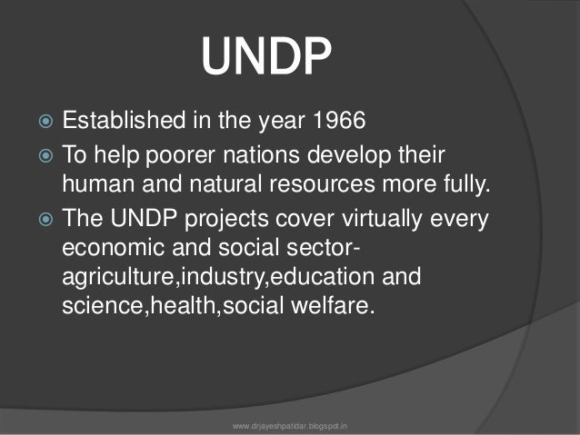UNDP'S activities:UNDPs network links and coordinates globaland national efforts to reach these Goals.Their focus is helpi...