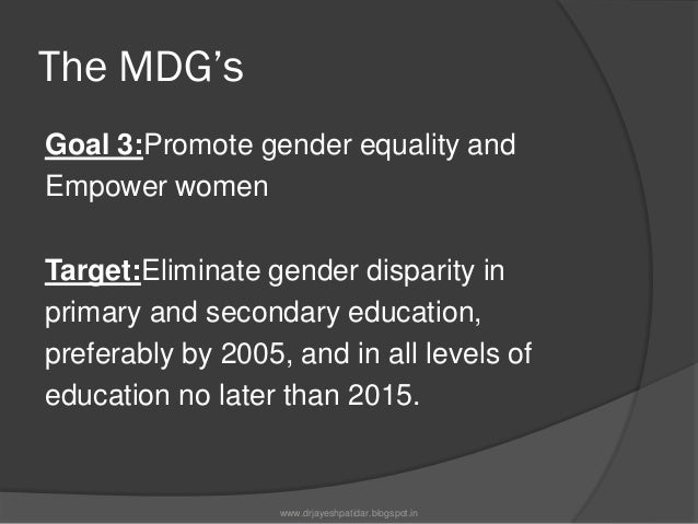 The MDG'sGoal 4: Reduce child mortalityTarget: Reduce by 2/3rds between 1990 and2015, the under five mortality rate.www.dr...