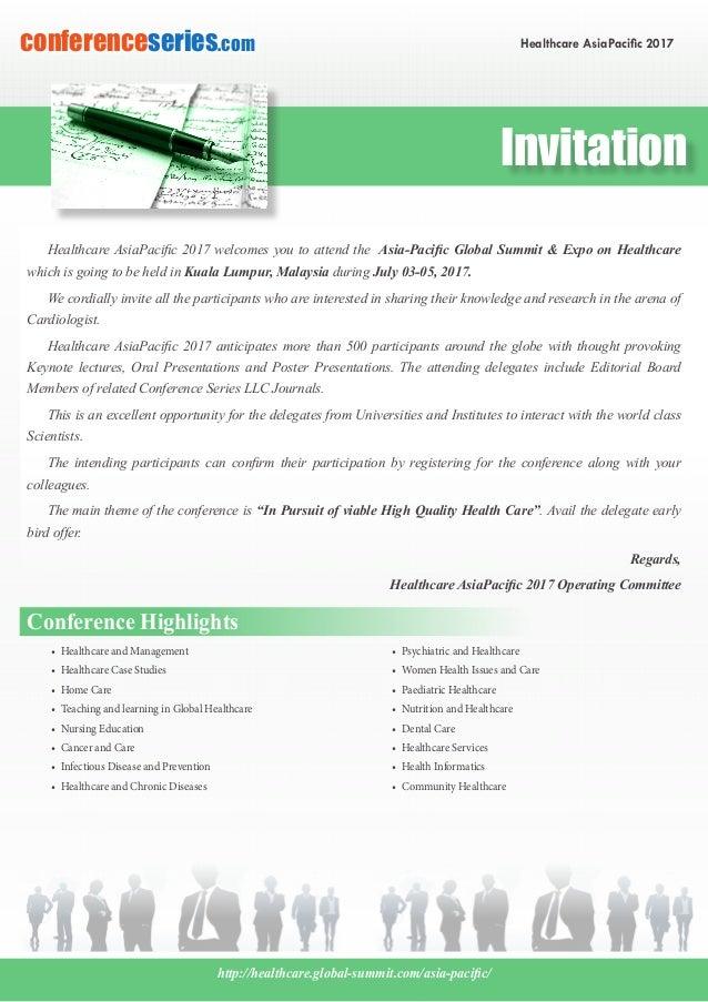 Healthcare Asia Pacific 2017 Brochure