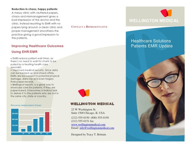 Healthcare brochure sample for Health pamphlet template