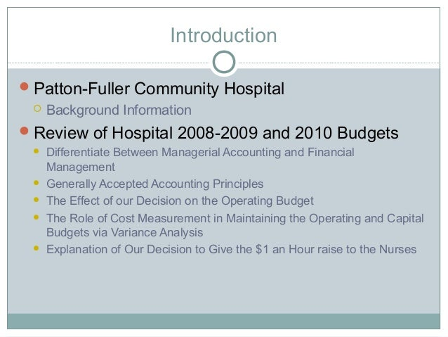 hcs 577 patton fuller powerpoint presentation Buy solutions:   resources: budgets and financial.