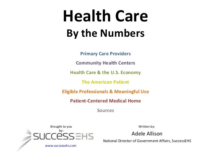Health Care By the Numbers Primary Care Providers Community Health Centers Health Care & the U.S. Economy The American Pat...
