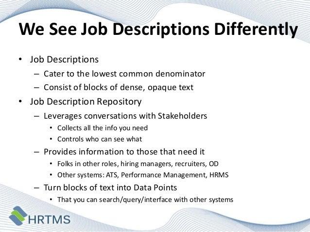 3 we see job descriptions