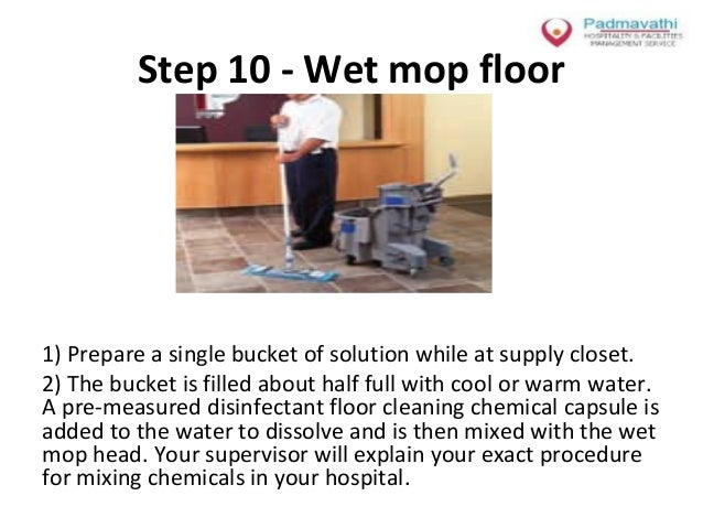 Health care cleaning sanitation procedures module
