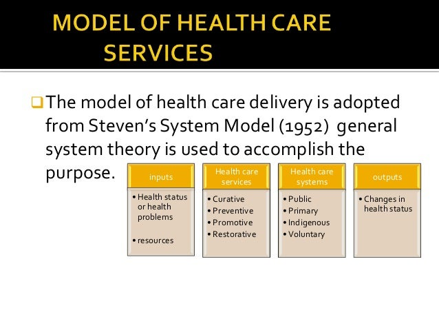 model health care system Systems theory and improving  the accreditation and quality measurement and reporting systems in health care organisations are  the health administration system.