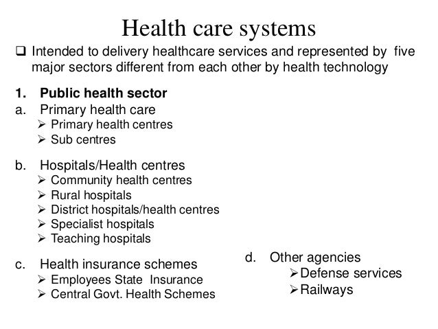 healthcare delivery system essay The world health organization (who), in 2000, ranked the us health care system as the highest in cost, first in responsiveness, 37th in overall performance, and 72nd by overall level of health (among 191 member nations included in the study) the healthcare delivery system nursing essay.