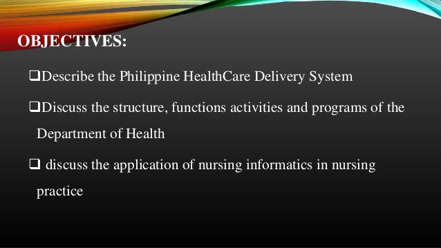 health care in the philippines Primary health care (phc) is an essential health care made universally acceptable to individuals and families in the community by means acceptable to them through.