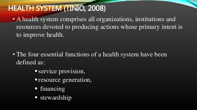 the philippine health care delivery system The philippines adopted the primary health care (phc) strategy following the 1979 alma ata declaration the country already had a long history of phc and community health programs as part of rural development programs and reforms in restructuring the health care delivery system.