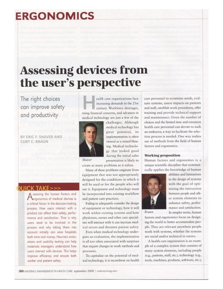 Healthcare Device Assessment Article