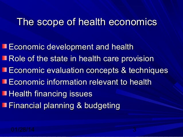 economics and healthcare The economics of health and medical care is an introduction to population-based health economics as well as the traditional, market-oriented approach to health care.