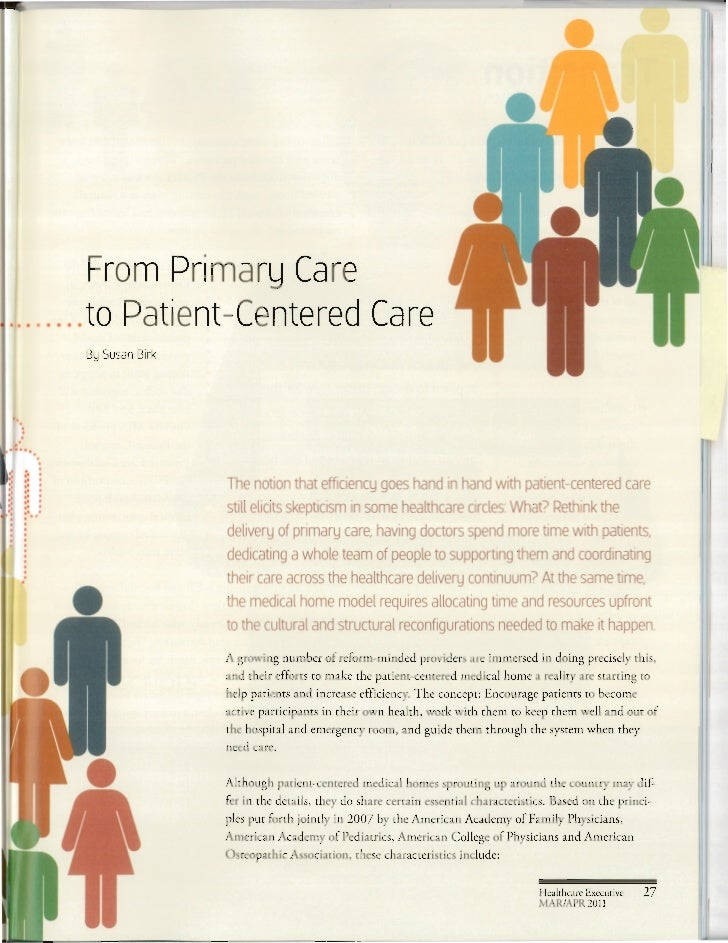 Healthcare executive Paul Grundy transition to Medical Home Slide 2