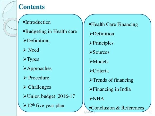 finance and budgeting