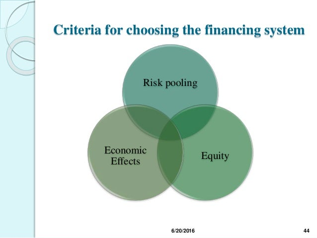 Risk pooling in health care