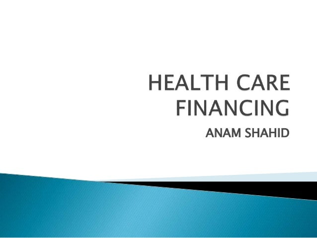 Health systems financing