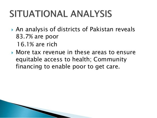 health care financing in pakistan Addressing financial sustainability in health systems  health systems financing, and  health care in the face of rising costs and resource constraints.