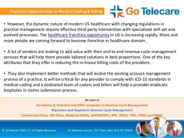 Healthcare Franchise Opportunity In Medical Coding Billing