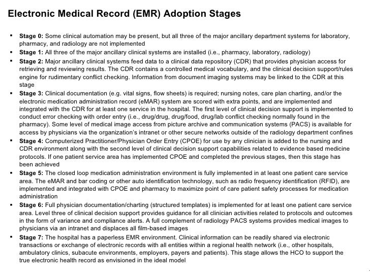 pacs and emr adoption