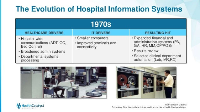 Healthcare Information Systems - Past, Present, and Future