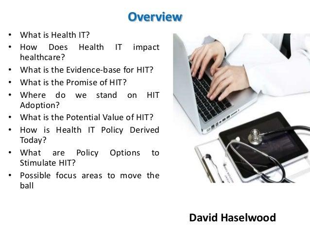 David Haselwood | Basics of Healthcare Information Technology