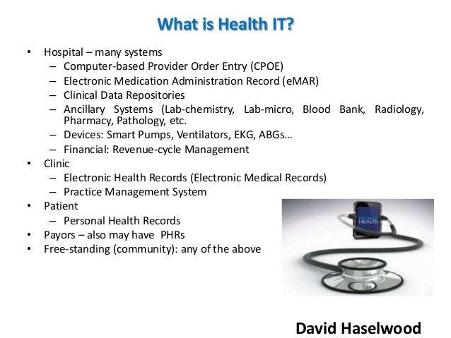 David Haselwood Basics Of Healthcare Information Technology