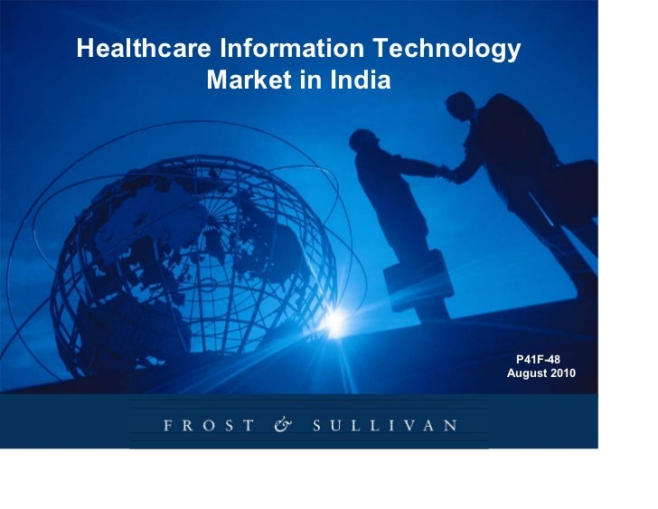Healthcare Information Technology          Market in India                                P41F-48                         ...