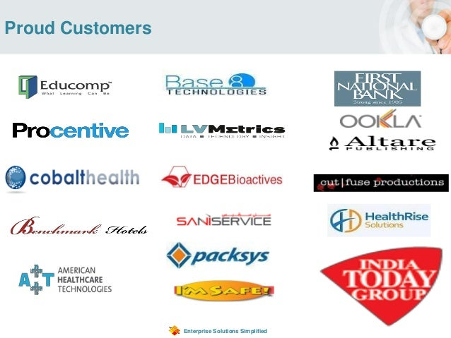 Enterprise Solutions Simplified Proud Customers