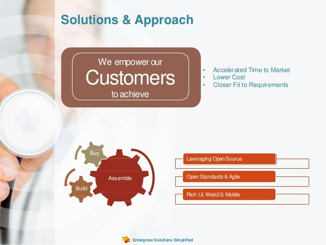 Solutions & Approach Enterprise Solutions Simplified We empower our Customers toachieve Assemble Build Buy Leveraging Open...