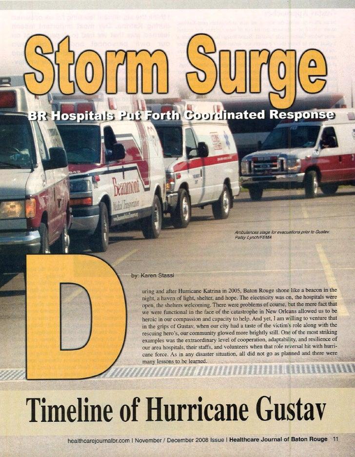 Healthcare Journal Of Baton Rouge Article on Hurricane Gustav