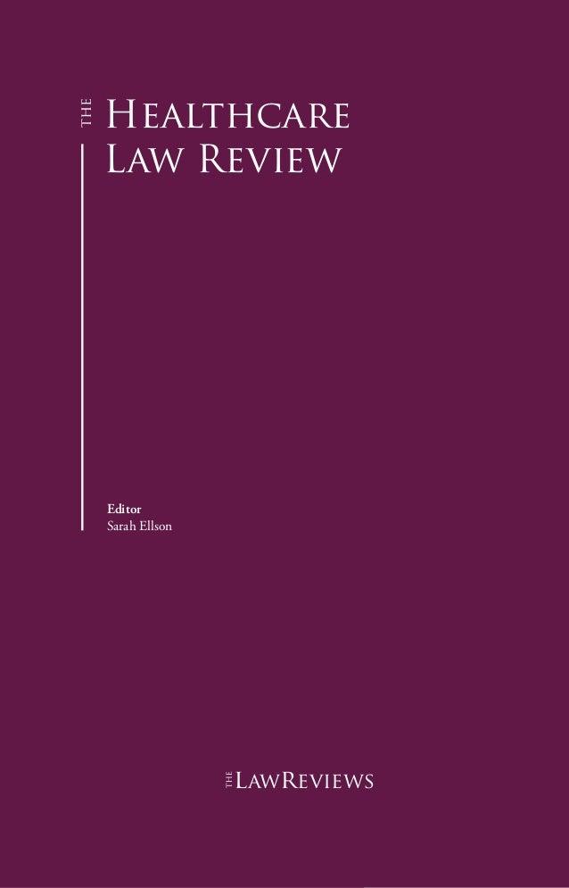 Healthcare Law Review Editor Sarah Ellson lawreviews