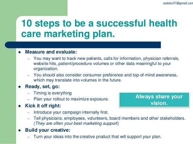 PPT on Health care marketing