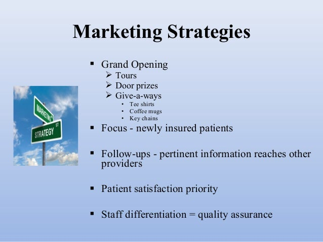 Health care marketing plan presentation