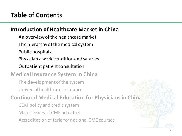 An Introduction of Healthcare Market in China Slide 2
