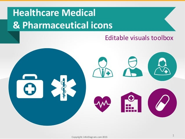 Copyright: infoDiagram.com2015 Healthcare Medical & Pharmaceutical icons Editable visuals toolbox 1