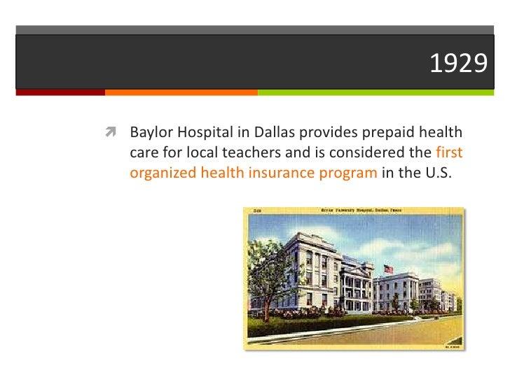 Health Care Milestones