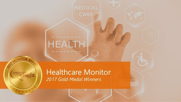 Healthcare Monitor 2017 Gold Medal Winners