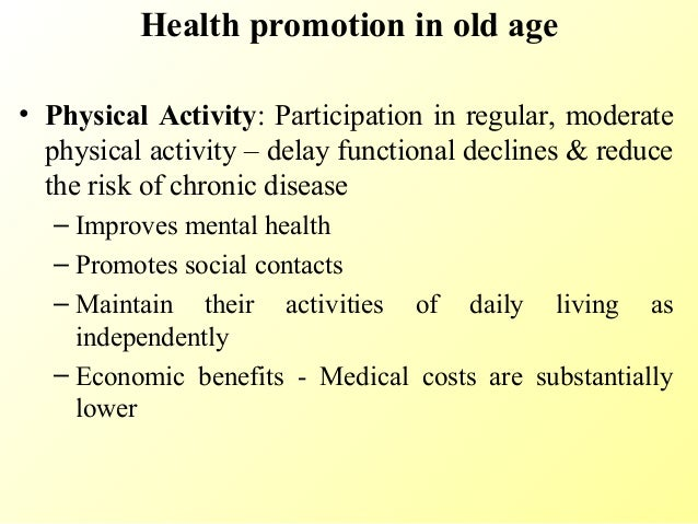 WHO  Health promotion for older people not business as usual