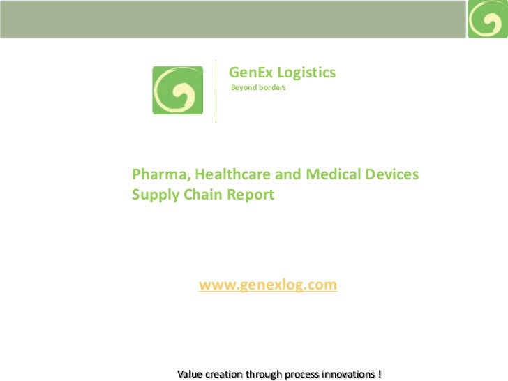 GenEx Logistics<br /> Beyond borders<br />Pharma, Healthcare and Medical Devices Supply Chain Report<br />www.genexlog.com...