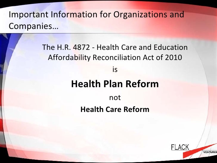 An overview of the health plans of the health maintenance organization