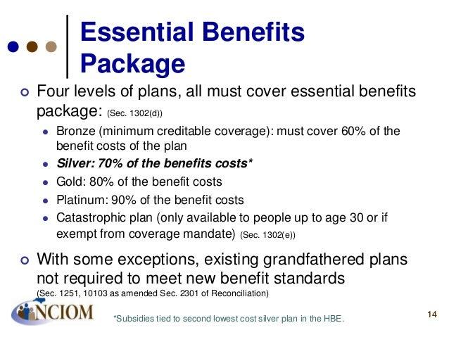 Understanding national health reform a focus on employers for Minimum essential coverage plan design